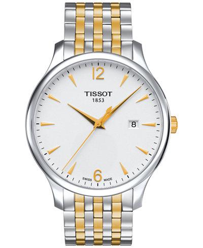 Tissot Men's Swiss Tradition Two-Tone Stainless Steel Bracelet Watch 42mm T0636102203700