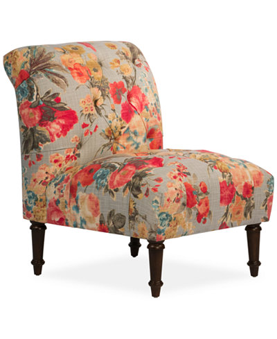 Bradbury Garden Odyssey Fabric Tufted Accent Chair, Quick Ship