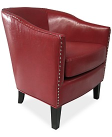 Lawson Faux Leather Accent Chair