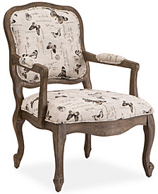 Marisol Fabric Butterfly Accent Chair, Quick Ship