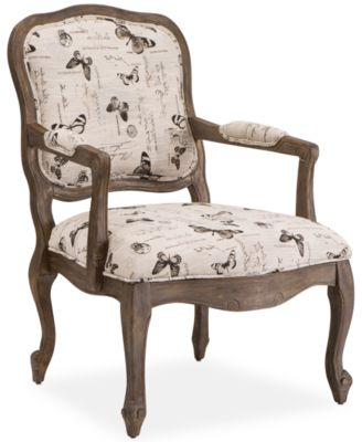 Nice Mackensie Fabric Butterfly Accent Chair, Quick Ship
