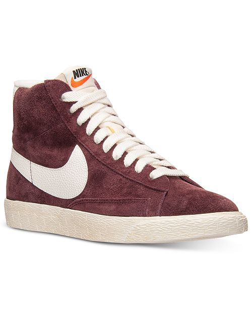 Nike Women's Blazer Mid Suede Vintage Casual Sneakers from