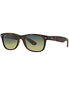 Ray-Ban Polarized Sunglasses, RB2132 52 New Wayfarer