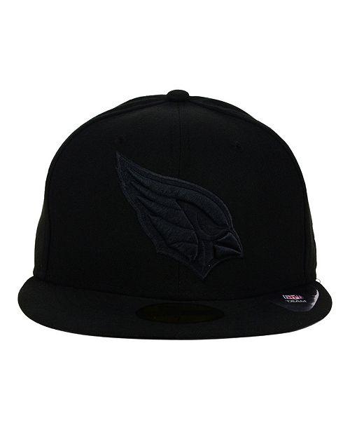 c455a61159e ... New Era Arizona Cardinals NFL Black on Black 59FIFTY Fitted Cap ...