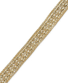 Chain Rope Bracelet in 14k Gold