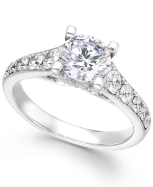 X3 Certified Diamond Engagement Ring in 18k White Gold (2-1/4 ct. t.w.)