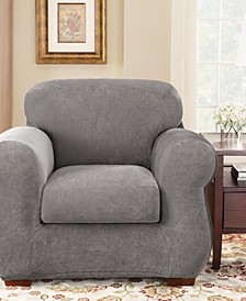 Stretch Pique 2-Piece Chair Slipcover