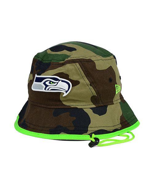 022c88e465ce5 New Era Seattle Seahawks Camo Pop Bucket Hat   Reviews - Sports ...