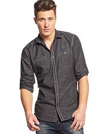 I.N.C. Men's Work Striped Shirt, Created for Macy's