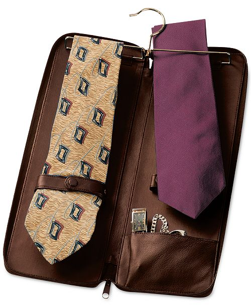 Royce Leather Royce New York Zippered Travel Tie Case