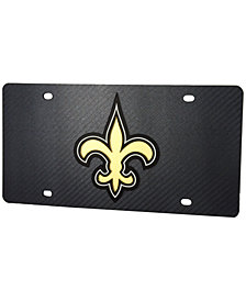 Stockdale New Orleans Saints Carbon License Plate