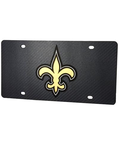 Stockdale New Orleans Saints Carbon License Plate