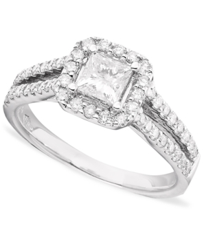 Princess-Cut Diamond (1-1/3 ct. t.w.) and 14k White Gold Engagement Ring