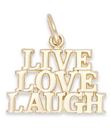 Live Laugh Love Stacked Charm in 14k Gold