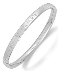 Children's Twinkle, Twinkle, Little Star Hinge Bangle Bracelet in Sterling Silver