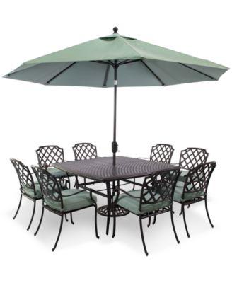nottingham outdoor cast aluminum 9pc dining set 60