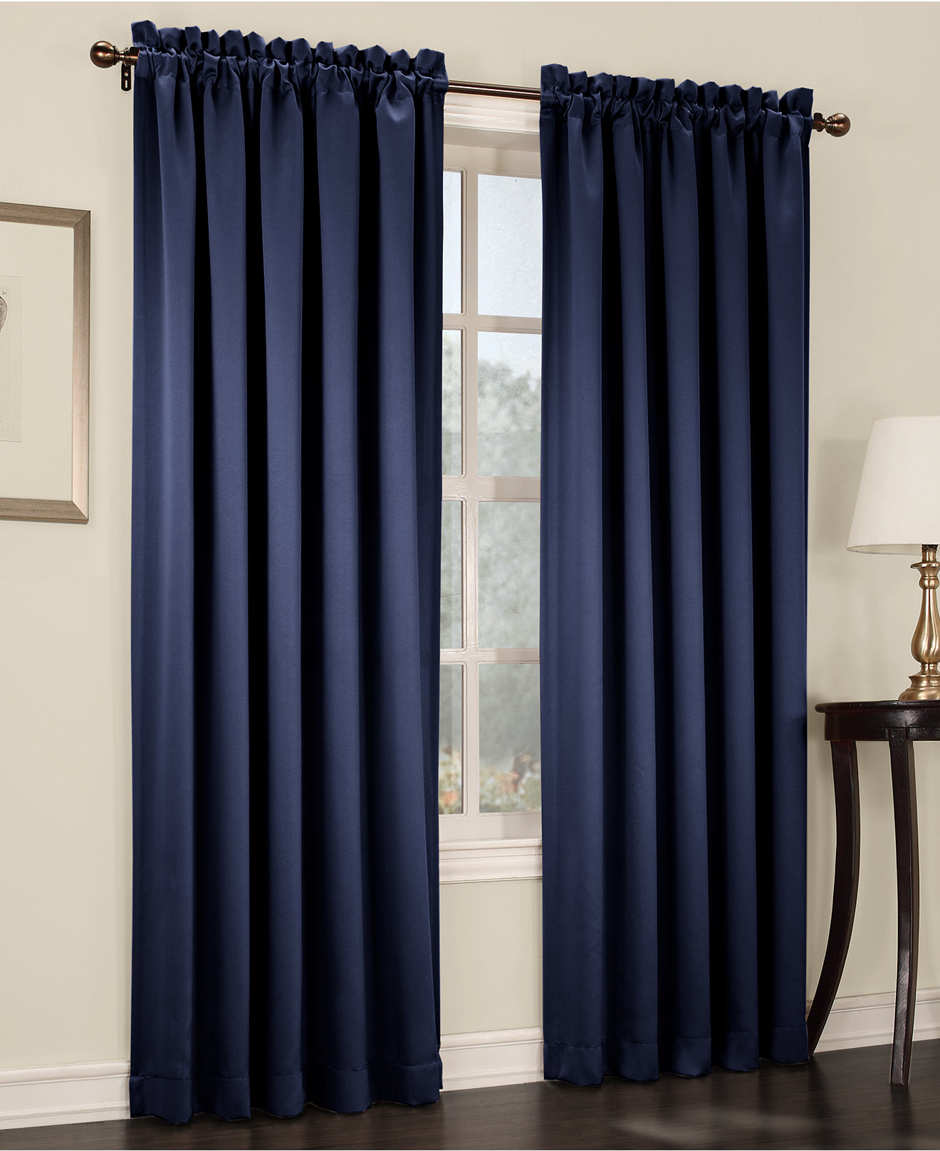 Sun Zero Grant Solid Room Darkening Poletop Window Treatment Collection