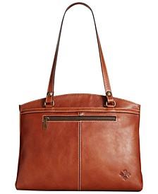 Poppy Smooth Leather Shoulder Bag