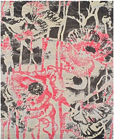 "Neo Grey Floral Blush 9'6"" x 13'2"" Area Rug"