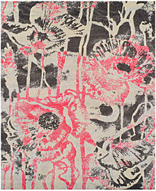 "Neo Grey Floral Blush 9'6"" x 13'2"" Area Rug"