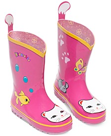 Little Girls' Lucky Cat Rain Boots