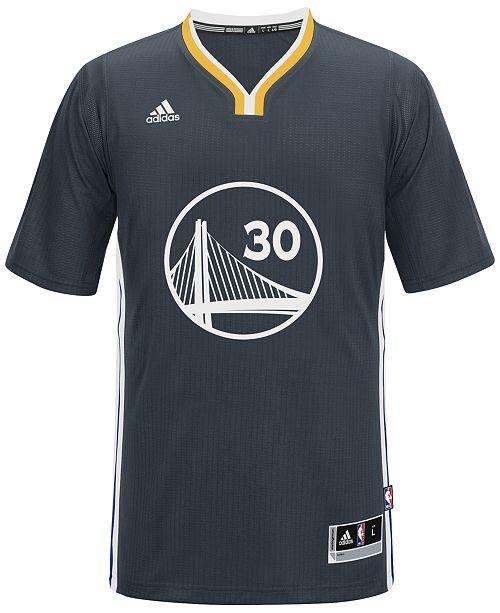 7ac1f6e9b44b adidas Men s Short-Sleeve Stephen Curry Golden State Warriors Swingman  Jersey ...