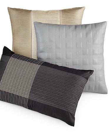 Hotel Collection Manhattan Stripe Decorative Pillow Collection - Decorative Pillows - Bed & Bath ...