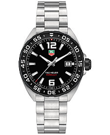 TAG Heuer Men's Swiss Formula 1 Stainless Steel Bracelet Watch 41mm