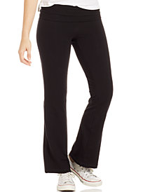 Material Girl Active Juniors' Foldover Waistband Yoga Pants