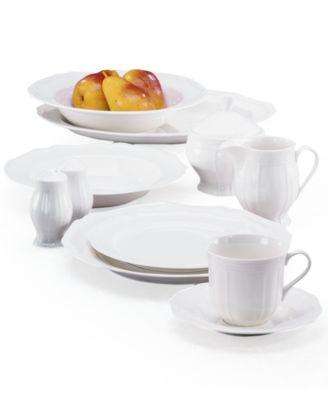 Mikasa Dinnerware Antique.  sc 1 st  Macyu0027s & Mikasa Dinnerware Antique White Collection - Dinnerware - Dining ...