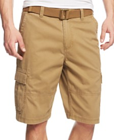 American Rag Men's Belted Relaxed Cargo Shorts (Dull Gold)