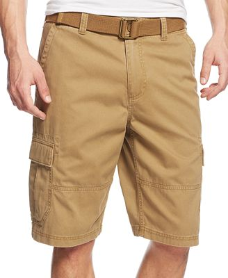 american rag mens belted relaxed cargo shorts created
