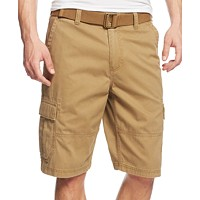 Macys deals on American Rag Mens Belted Relaxed Cargo Shorts