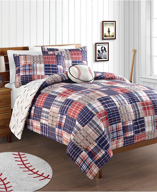 VCNY Home Home Run 4-Pc. Reversible Comforter Sets