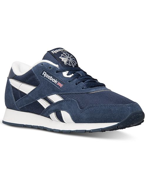 a194d89f19875 Reebok Men s Classic Nylon Casual Sneakers from Finish Line ...