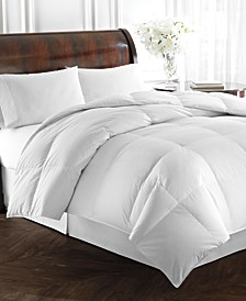 Heavyweight White Goose Down Twin Comforter, 500 Thread Count 100% Cotton Cover