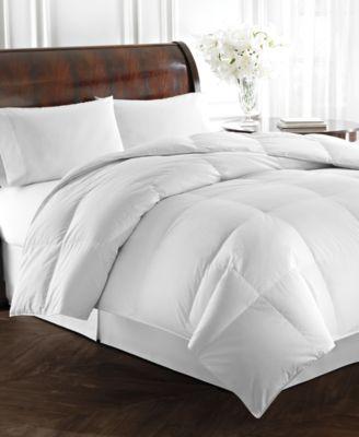 lauren ralph lauren heavyweight white goose down comforters 500 thread count 100 cotton cover - Down Blankets