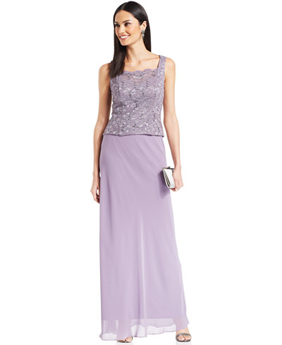 Alex Evenings Lace Jacket, Shell & Floor-Length Skirt