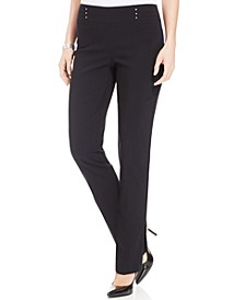 Studded Pull-On Tummy Control Pants, Regular, and Short Lengths, Created for Macy's