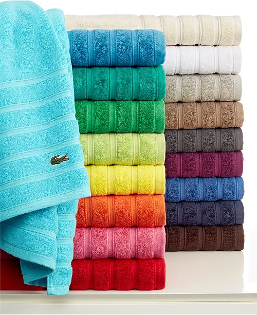 "Lacoste Towels Clearance: Lacoste Croc Solid 35"" X 70"" Bath Sheet"