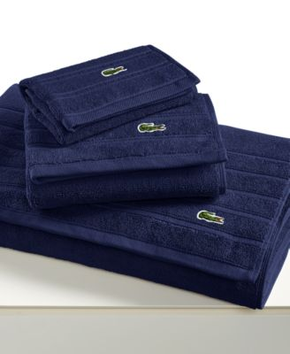 "Image of Lacoste Croc Solid 30"" x 54"" Bath Towel"