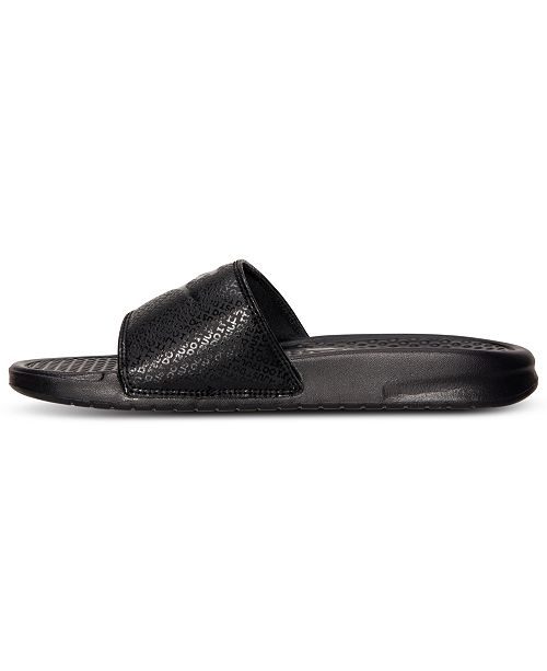 57f00551d8d4 Nike Men s Benassi JDI Slide Sandals from Finish Line   Reviews ...