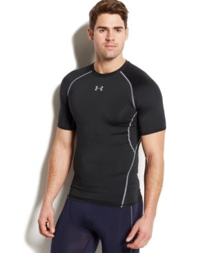 UNDER ARMOUR Heatgear Compression Fit T-Shirt in Black