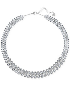 Baron Rhodium-Tone All-Around Crystal Necklace