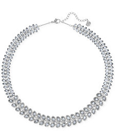 Swarovski Baron Rhodium-Tone All-Around Crystal Necklace