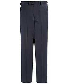 Lauren Ralph Lauren Solid Navy Suiting Pants, Big Boys Husky