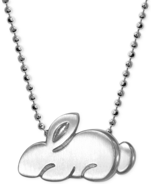 Little Rabbit Zodiac Pendant Necklace in Sterling Silver