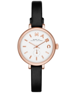 Marc by Marc Jacobs Women's Sally Black Leather Strap Watch 28mm MBM1352