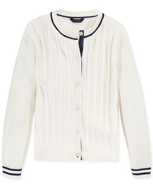 c043fcfd31 Tommy Hilfiger Big Girls Mini-Cable Knit Cardigan.  39.50. Sale  23.70 (40%  off) ...