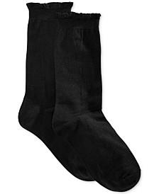HUE® Women's Solid Femme Top Sock